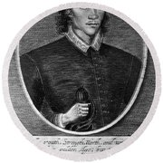 John Donne (1573-1631) Round Beach Towel