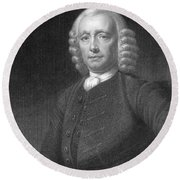 John Harrison, English Inventor Round Beach Towel