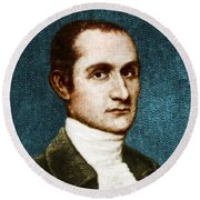 John Jay, American Founding Father Round Beach Towel