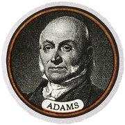 John Quincy Adams, 6th American Round Beach Towel