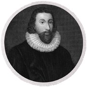 John Winthrop (1588-1649) Round Beach Towel