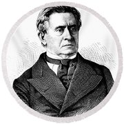 Joseph Henry, American Scientist Round Beach Towel by Science Source