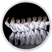 Karate Expert Round Beach Towel by Ted Kinsman