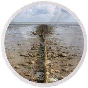 Keitum - Sylt Round Beach Towel by Joana Kruse