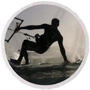 Kitesurfing Board Round Beach Towel