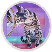Kitten Image Round Beach Towel