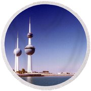 Kuwait Towers Round Beach Towel