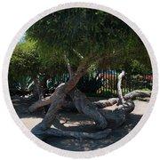 La Brea Tar Pits Round Beach Towel