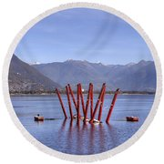 Lake Maggiore Locarno Round Beach Towel by Joana Kruse