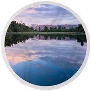 Lake Matheson Round Beach Towel