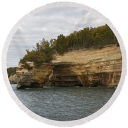 Lake Superior Pictured Rocks 50 Round Beach Towel