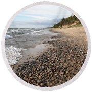 Lake Superior Round Beach Towel