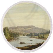 Landscape With River Round Beach Towel