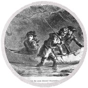 Last Of The Mohicans, 1872 Round Beach Towel