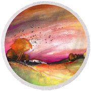 Late Afternoon 23 Round Beach Towel