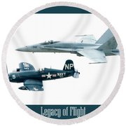 Legacy Of Flight Round Beach Towel