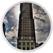 Liberty Building Round Beach Towel