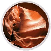 Light From Above Round Beach Towel