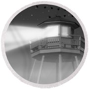 Lighthouse Dreaming  Round Beach Towel