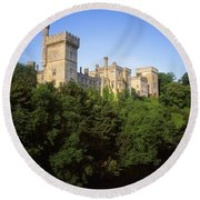 Lismore Castle, Co Waterford, Ireland Round Beach Towel