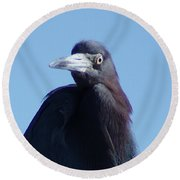 Little Blue Heron II Round Beach Towel
