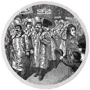Lockwood Campaign, 1884 Round Beach Towel