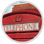 London Calling Round Beach Towel