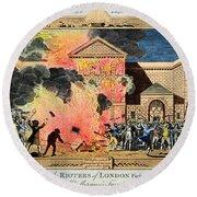 London: Gordon Riots, 1780 Round Beach Towel