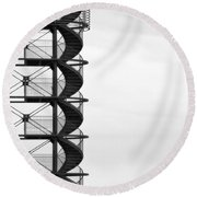 Look Out Round Beach Towel
