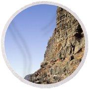 Los Gigantes Cliffs Round Beach Towel
