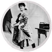 Lotta Crabtree (1847-1924) Round Beach Towel