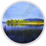 Lough Gill, Co Sligo, Ireland Round Beach Towel
