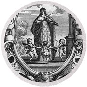 Louis, Dauphin Of France Round Beach Towel
