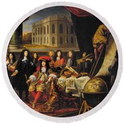 Louis Xiv (1638-1715) Round Beach Towel