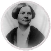 Lucy Stone, American Abolitionist Round Beach Towel by Photo Researchers