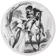Lydia Darragh, American Patriot Round Beach Towel