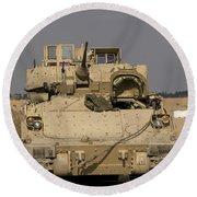 M2m3 Bradley Fighting Vehicle Round Beach Towel