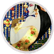 Ma Belle Salope Chinoise No.13 Round Beach Towel