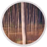 Magical Forest At Sunset Round Beach Towel
