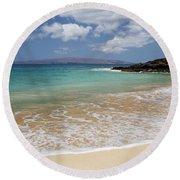 Makena Ocean And Sand Round Beach Towel