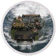 Marines Navigate An Amphibious Assault Round Beach Towel