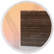 Marron Grecale Marble Round Beach Towel