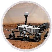 Mars Science Laboratory Round Beach Towel