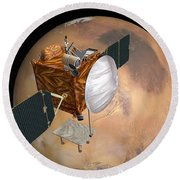 Mars Telecommunications Orbiter Round Beach Towel