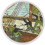 Mary Read And Anne Bonny, 18th Century Round Beach Towel by Photo Researchers