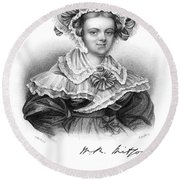 Mary Russell Mitford Round Beach Towel