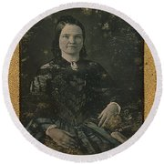 Mary Todd Lincoln, First Lady Round Beach Towel by Photo Researchers