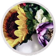 May Flowers I Round Beach Towel