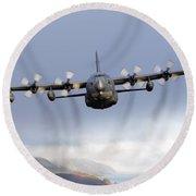 Mc-130p Combat Shadow Over Scotland Round Beach Towel