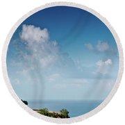 Mediterranean Landscape Round Beach Towel